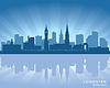 Leicester, England Skyline | Stock Vektrografik