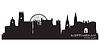 Skyline von Nottingham, England | Stock Vektrografik