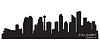 Calgary, Kanada Skyline. Detaillierte silhouette