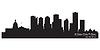 Edmonton, Kanada Skyline. Detaillierte silhouette