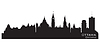 Ottawa, Kanada Skyline. Detaillierte silhouette