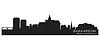 Saskatoon, Kanada Skyline. Detaillierte silhouette