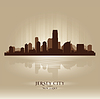 ID 3548120 | Jersey City, New Jersey Skyline Stadtsilhouette | Stock Vektorgrafik | CLIPARTO