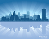 Buffalo, New York Skyline Stadtsilhouette