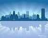 Buffalo, Nowy Jork miasto skyline sylwetka | Stock Vector Graphics