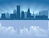 Providence, Rhode Island Skyline Stadtsilhouette