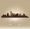 ID 3578564 | Boston, Massachusetts panoramę miasta sylwetka | Klipart wektorowy | KLIPARTO