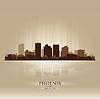 Phoenix, Arizona Skyline Stadtsilhouette
