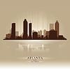 Atlanta Georgia Skyline Stadtsilhouette