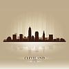 Cleveland Ohio Skyline Stadtsilhouette
