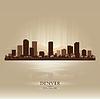 ID 3598321 | Denver Colorado Skyline Stadtsilhouette | Stock Vektorgrafik | CLIPARTO