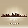Sacramento California Skyline Stadtsilhouette