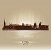 Cork Irland Skyline Stadtsilhouette