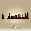 Dubai Vereinigte Arabische Emirate Skyline Stadtsilhouette