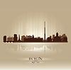 Dublin Irland Skyline Stadtsilhouette