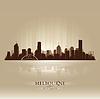 Melbourne, Australien Skyline Stadtsilhouette