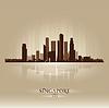 Singapur Asien Skyline Stadtsilhouette