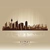 Sydney Australia Skyline Stadtsilhouette