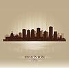 Edmonton Alberta Skyline Stadtsilhouette