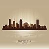 Montreal Quebec Skyline Stadtsilhouette