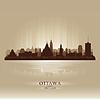 Ottawa Ontario Skyline Stadtsilhouette