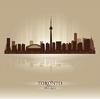 Toronto Ontario Skyline Stadtsilhouette