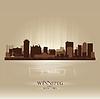 Winnipeg Manitoba Skyline Stadtsilhouette