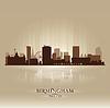Birmingham England Skyline Stadtsilhouette | Stock Vektrografik