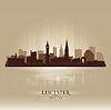 Leicester England Skyline Stadtsilhouette | Stock Vektrografik