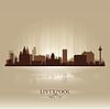 Liverpool England Skyline Stadtsilhouette | Stock Vektrografik