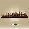 London England Skyline Stadtsilhouette