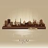 Skyline von Samara, Russland - Stadtsilhouette