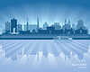 Samara Rosja skyline sylwetka miasta | Stock Vector Graphics