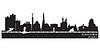 Samara Rosja sylwetka szczegółowe panoramę miasta | Stock Vector Graphics