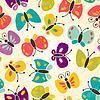 Schmetterlinge - nahtloses Muster