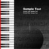 ID 3386473 | Grunge-Hintergrund mit Klaviertasten | Stock Vektorgrafik | CLIPARTO