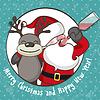 betrunker Santa Claus