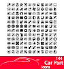 Vector clipart: Car part icons