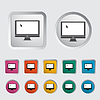 ID 3511179 | Monitorowanie ikonę | Klipart wektorowy | KLIPARTO