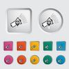 Megaphone einzelnes Symbol