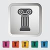 ID 3703446 | Kolumna pojedyncza ikona | Klipart wektorowy | KLIPARTO