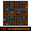 100 Car Dashboard Icons | Stock Vektrografik