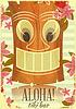 Vintage Hawaiian Tiki Postkarte