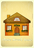 Cartoon Häuser Postcard