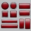 光泽的红色网页按钮 | 向量插图