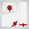 Weißes Papier Umschlag mit Wachs-Siegel