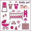 ID 3508699 | Scrapbook-Elemente mit Baby Dinge | Stock Vektorgrafik | CLIPARTO