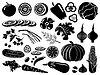 Set von Icons von Gemüse