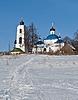 ID 3702839 | Stary rosyjski kościół kraj w czasie zimy | Foto stockowe wysokiej rozdzielczości | KLIPARTO