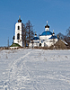 ID 3702839 | 겨울 시간에 늙은 러시아 국가 교회 | 높은 해상도 사진 | CLIPARTO